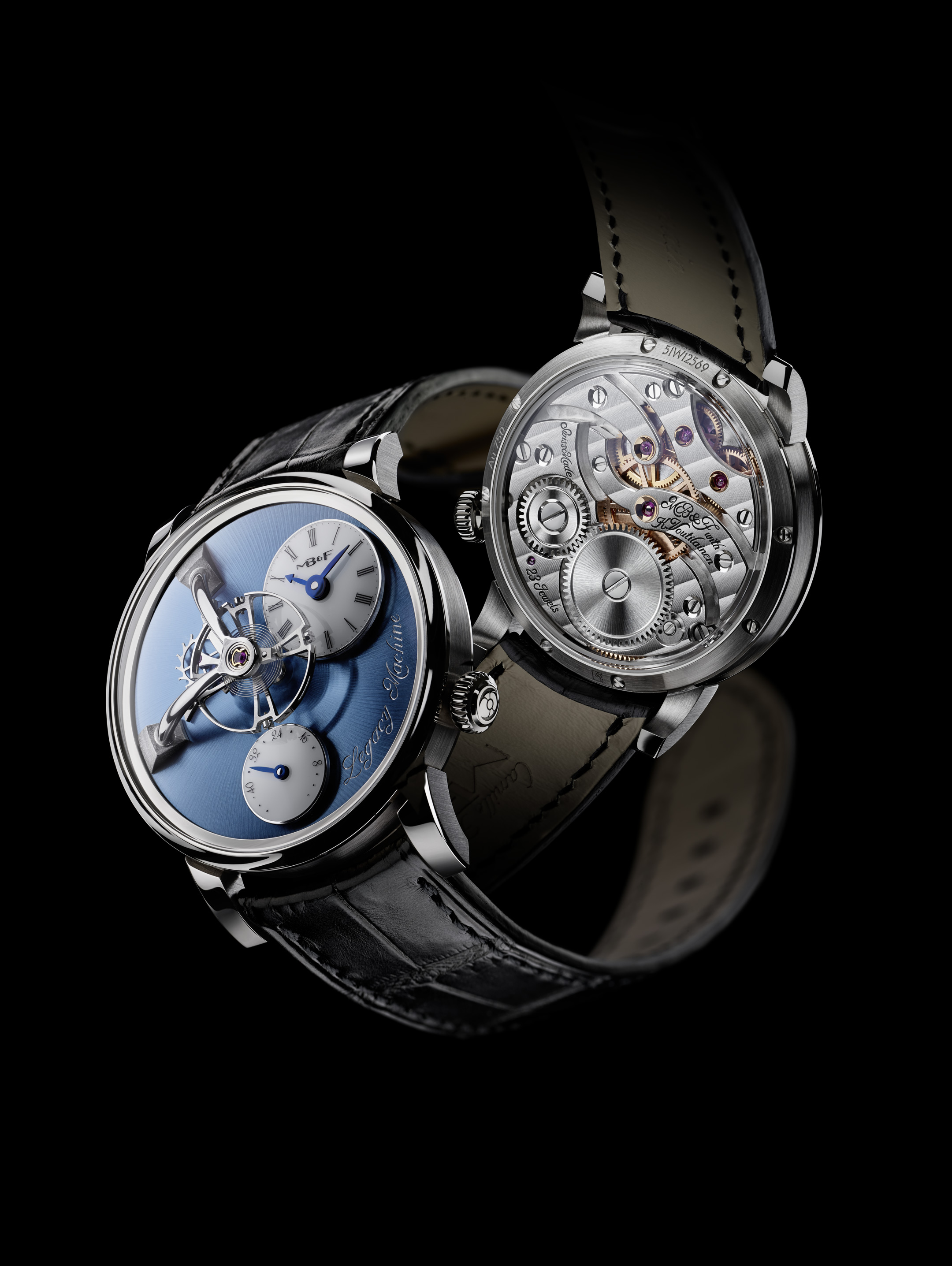 MB&F Legacy Machine LM101 Platinum front-back