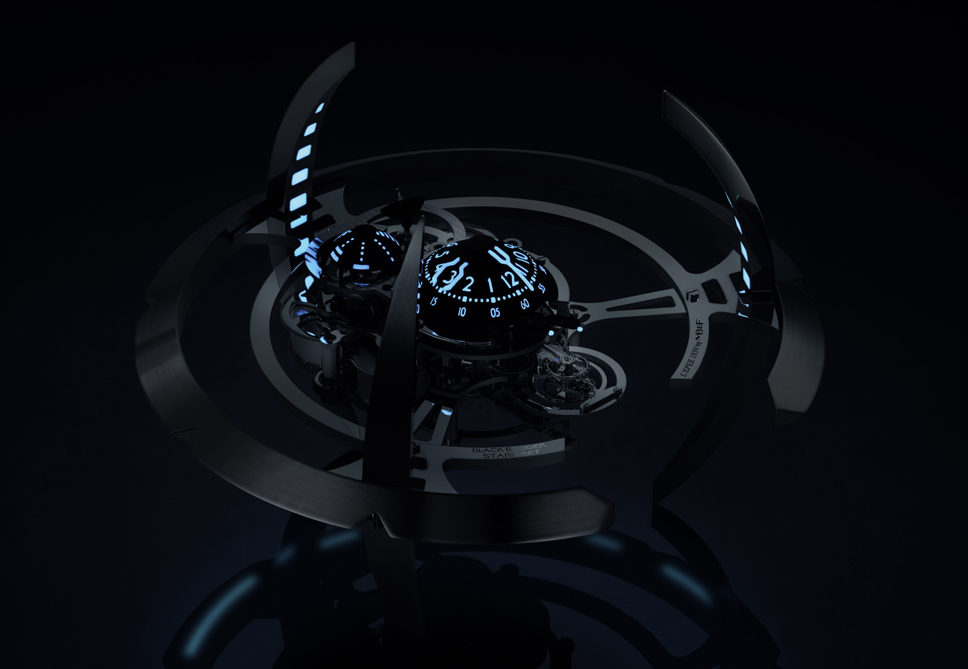 MB&F Starfleet Machine Black Badger-Front