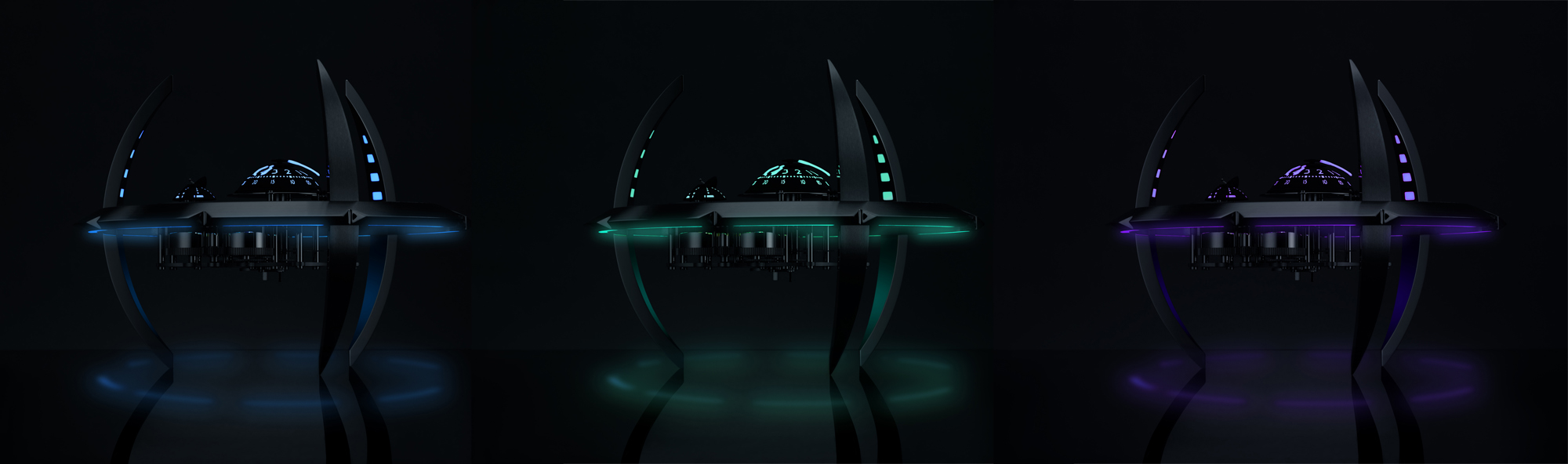 MB&F Starfleet Machine Black Badger - 3 couleurs