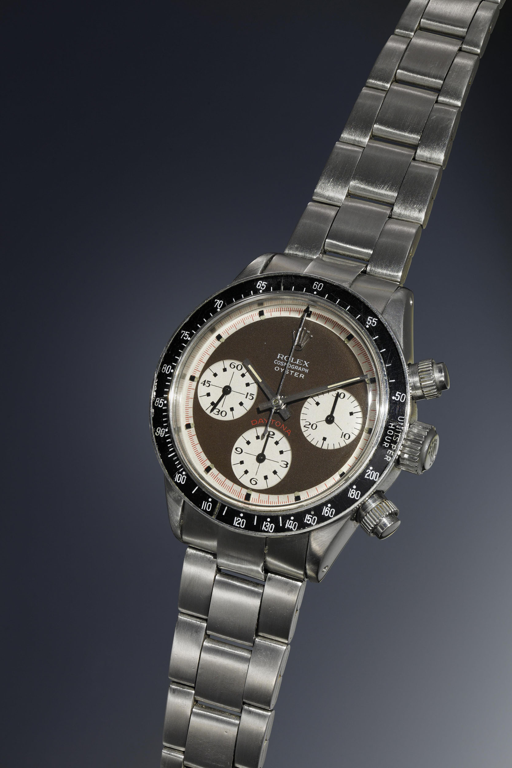 """2-Rolex Cosmograph Daytona """"Paul Newman Oyster Sotto"""", 6263, stamped inside caseback 6239, Stainless steel, 1969"""