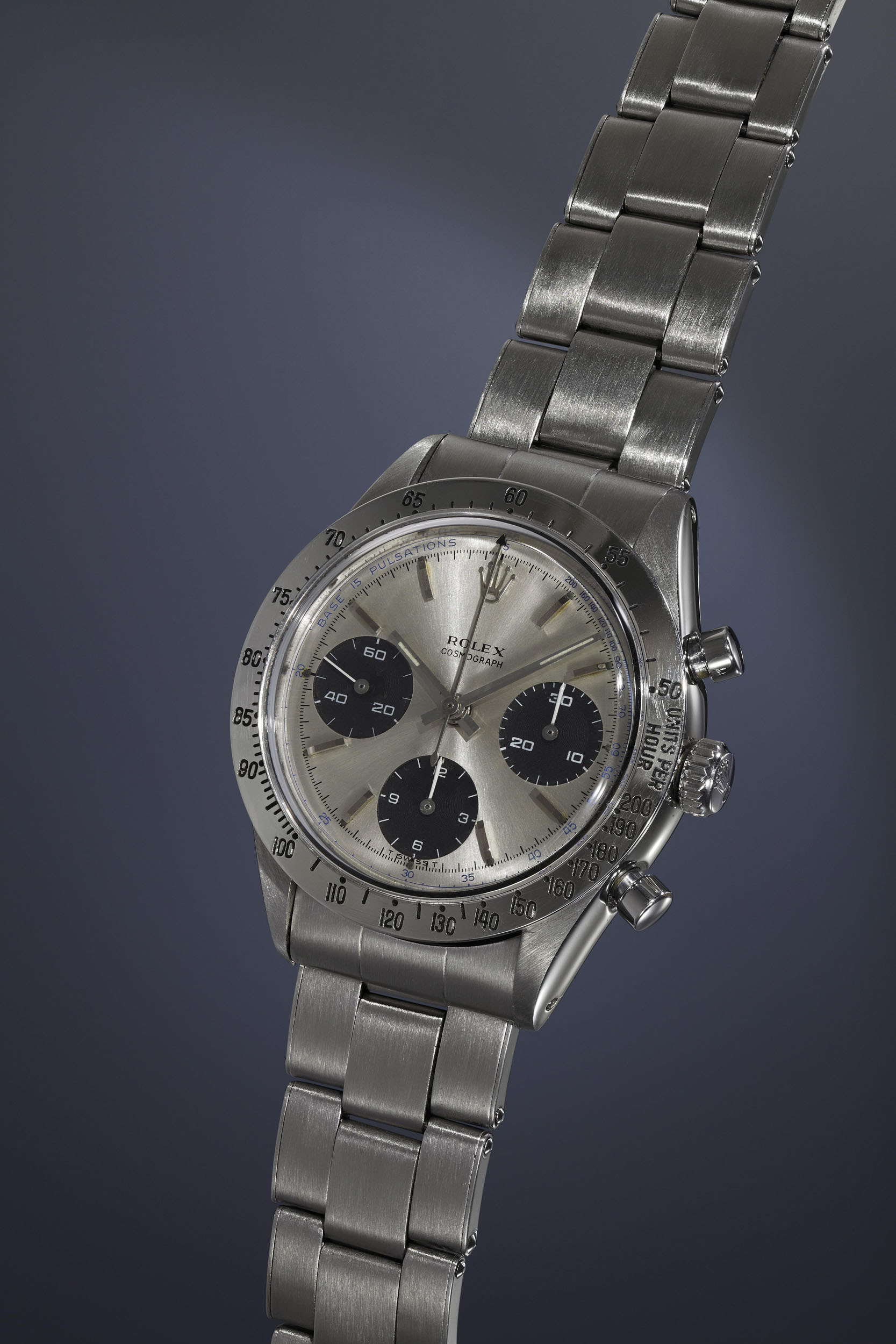 "3-Rolex Cosmograph ""The Doctor"", 6239, Stainless steel, 1966"