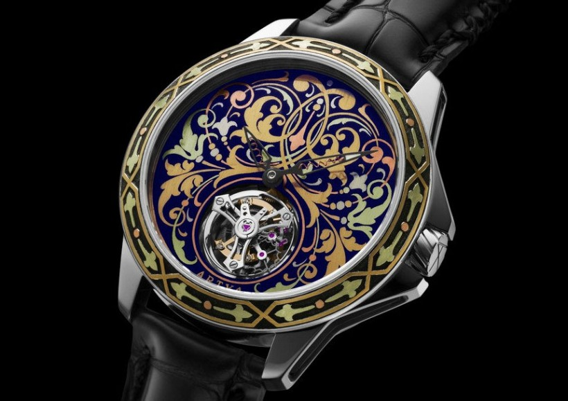 ArtyA Gold Marquetry Tourbillon-mini