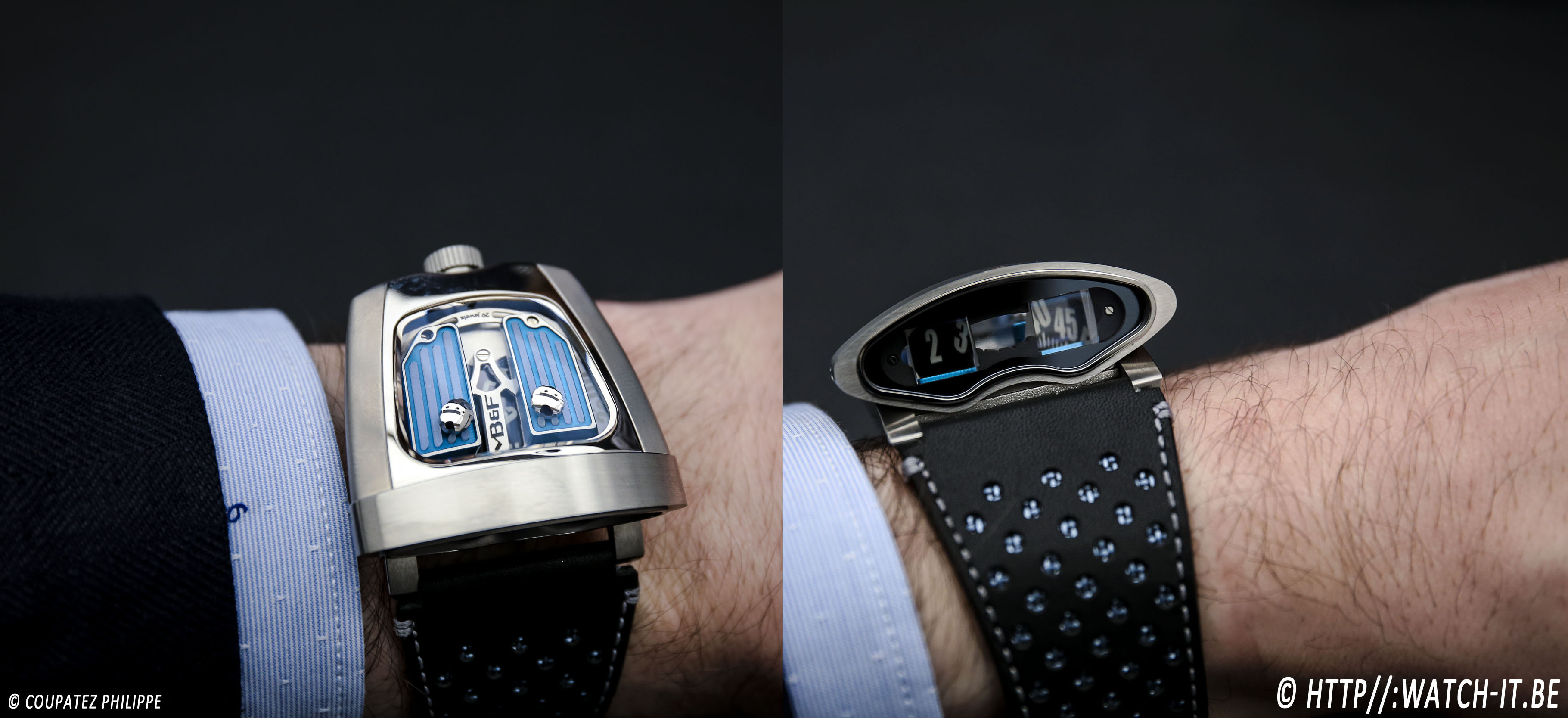 MB&F HMX Black Badger Edition-on wrist