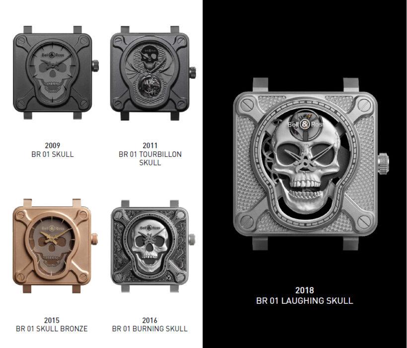 Bell & Ross BR 01 Skull history