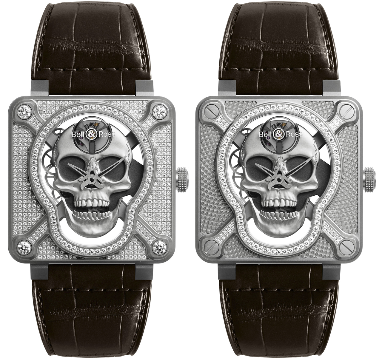 Bell & Ross BR 01 Laughing Skull Diamants