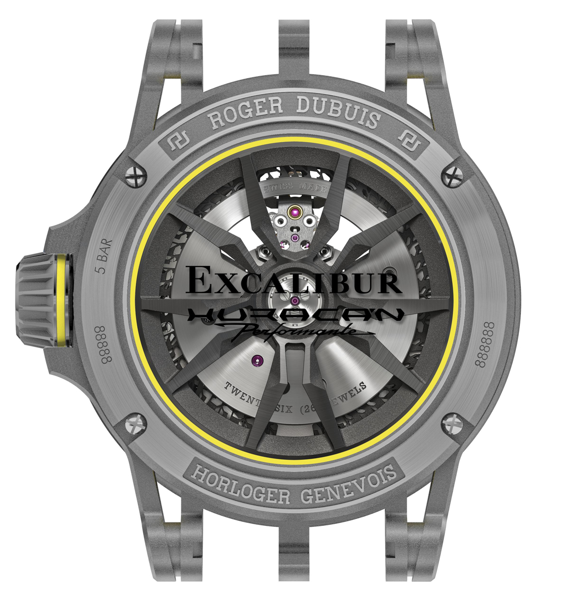 Roger Dubuis Excalibur Huracán Performante - Back
